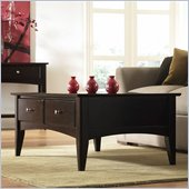 Riverside Furniture Cosmopolitan Storage Cocktail Table in Espresso