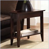 Riverside Furniture Cosmopolitan Wedge End Table in Espresso