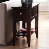 Riverside Furniture Cosmopolitan Chairside Table in Espresso