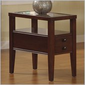 Riverside Furniture Avenue Chairside Table in Dark Cherry