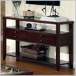 ADD TO YOUR SET: Riverside Furniture Avenue Sofa Table in Dark Cherry