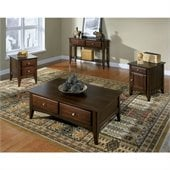 Riverside Furniture Metro II Storage Cocktail Table in Ebony Brown