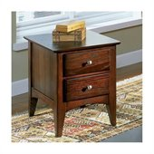 Riverside Furniture Metro II Two Drawer End Table in Ebony Brown