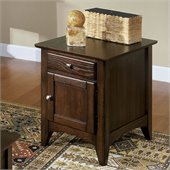 Riverside Furniture Metro II Doored End Chest in Ebony Brown