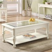 Riverside Essex Point Rectangular Cocktail Table in Shores White
