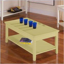 Riverside Splash Of Color Tray Top Cocktail Table in Buttercup Yellow Best Price