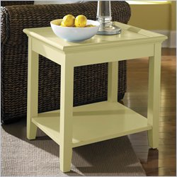 Riverside Splash Of Color Tray Top End Table in Buttercup Yellow Best Price