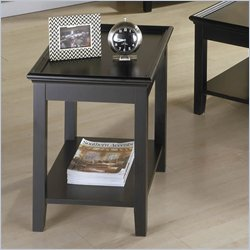 Riverside Splash Of Color Tray Top End Table in Antique Black Best Price