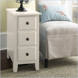 Riverside Splash Of Color Chairside Media Table in Shores White Best Price