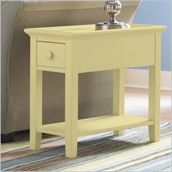 Riverside Splash Of Color Chairside Table in Buttercup Yellow
