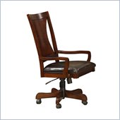 Riverside Furniture Avenue Desk Chair in Dark Cherry
