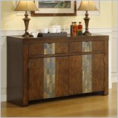 Riverside Furniture Belize Server in Old Word Distressed Pine