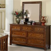 Riverside Furniture Craftsman Home Dresser and Mirror Set