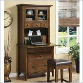 Riverside Furniture Falls Village Personal Workstation and Hutch