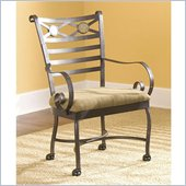 Riverside Furniture Stone Forge Caster Arm Chair