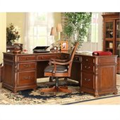 Riverside Furniture Bristol Court L-Desk And Return in Cognac Cherry