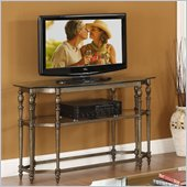 Riverside Furniture Southbury Console Table/TV Stand Base-Glass in Classic Bronze
