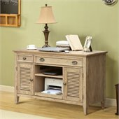 Riverside Furniture Coventry Credenza Desk in Weathered Driftwood