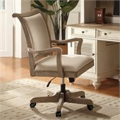 Riverside Furniture Coventry Desk Chair in Weathered Driftwood