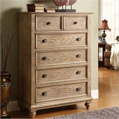 Riverside Furniture Coventry 5-Drawer Chest in Driftwood