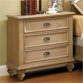 Riverside Furniture Coventry 3-Drawer Night Stand in Driftwood