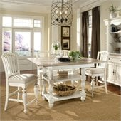 Riverside Furniture Coventry Two Tone Dining Table in Dover White
