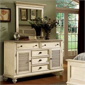 Riverside Furniture Coventry Two Tone Dresser in Dover White