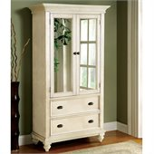 Riverside Furniture Coventry Two Tone Armoire in Dover White