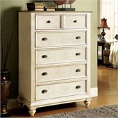 Riverside Furniture Coventry Two Tone 5-Drawer Chest in Dover White