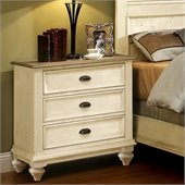 Riverside Furniture Coventry Two Tone Night Stand in Dover White
