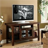 Riverside Furniture Castlewood Console Table/TV Stand in Warm Tobacco
