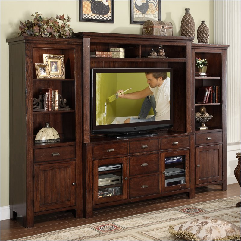 Castlewood Entertainment Center In Warm Tobacco 33541 42