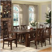 Riverside Furniture Castlewood Dining Table in Warm Tobacco