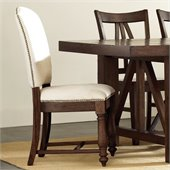 Riverside Furniture Castlewood Side Chair in Warm Tobacco
