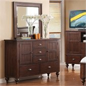 Riverside Furniture Castlewood Door Dresser in Warm Tobacco