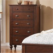 Riverside Furniture Castlewood 6-Drawer Chest in Warm Tobacco