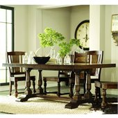 Riverside Furniture Newburgh Dining Table Top-Base in Antique Ginger