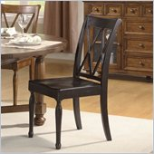 Riverside Furniture Delcastle Side Dining Chair in Aged Black