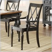 Riverside Furniture Delcastle Arm Chair in Aged Black