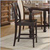 Riverside Furniture Delcastle Counter Stool in Aged Black