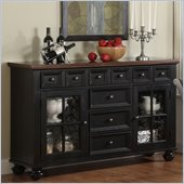 Riverside Furniture Marbella Server in Aged Black