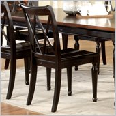 Riverside Furniture Marbella Side Dining Chair in Aged Black