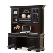 Riverside Furniture Allegro Computer Workstation in Rubbed Black