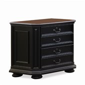 Riverside Furniture Allegro Lateral File Cabinet in Rubed Black