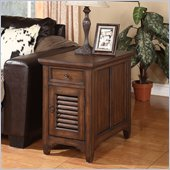 Riverside Furniture Monterey Chairside Chest in Aged Ash