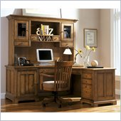 Riverside Furniture Woodland's Oak L-Shape Computer Desk in Canyon Oak