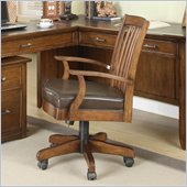 Riverside Furniture Oakton Village Desk Chair in Distressed Oak