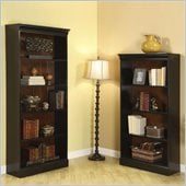 Riverside Furniture Bridgeport Wall Bookcase in Burnished Cherry