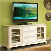 Riverside Furniture Placid Cove 69 Inch TV Console in Honeysuckle White