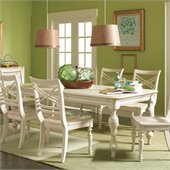 Riverside Furniture Placid Cove Rectangular Dining Table in Honeysuckle White